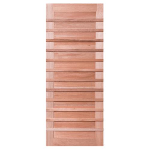 BEST ประตูไม้สยาแดง ขนาด 80x200cm.ทำสีโอ๊ค  GS-59