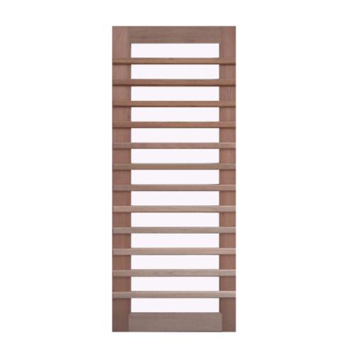 BEST ประตูไม้สยาแดงพร้อมกระจกฝ้า   80x200cm. GS-59