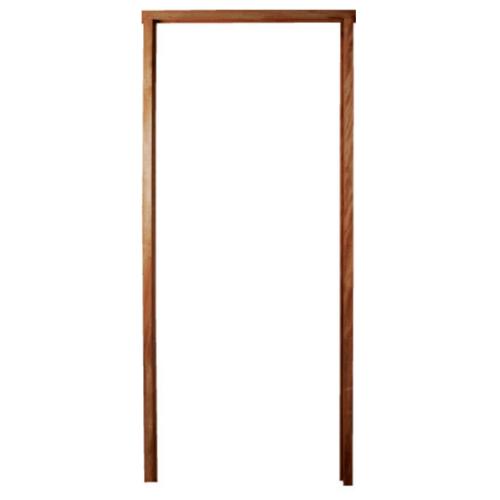BEST วงกบประตูไม้เนื้อแข็งพร้อมชุดรางเลื่อน ขนาด 200x200 ซม. -
