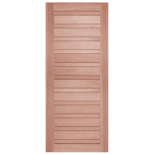 BEST ประตูไม้สยาแดง ขนาด 80x220 cm. GS-53