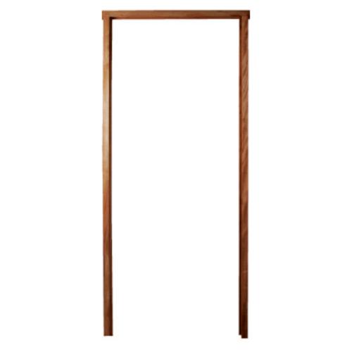 BEST วงกบประตูไม้เนื้อแข็งพร้อมชุดรางเลื่อน  ขนาด 180x220 cm.