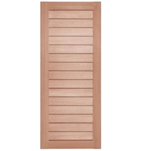 BEST ประตูไม้สยาแดง ขนาด 120x300 cm.  GS-52 Plus