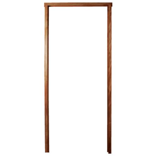 BEST วงกบประตูไม้เนื้อแข็งพร้อมชุดรางเลื่อน  ขนาด200x220 cm.