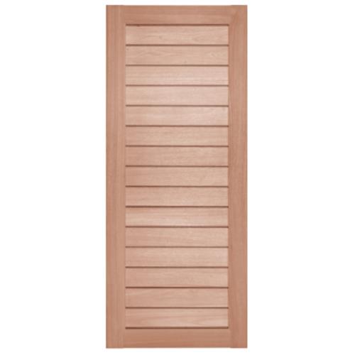 BEST ประตูไม้สยาแดง ขนาด150x354 cm. GS-52 Plus