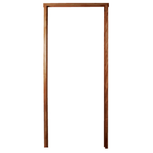 BEST วงกบประตูไม้เนื้อแข็งพร้อมซับ ขนาด100x200cm.  -