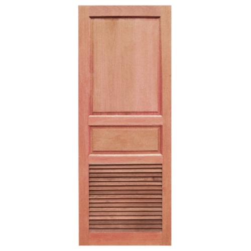BEST ประตูไม้สยาแดง 2ฟักบนเกล็ดล่างขนาด 70x200ซม.  GS-27