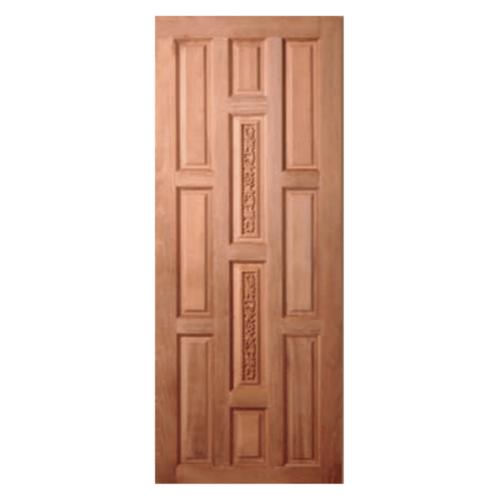 BEST  ประตูไม้สยาแดง บานทึบแกะลาย 90x200ซม.  GC-38