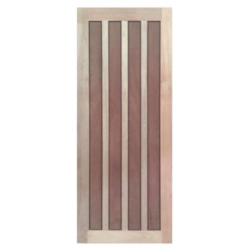 BEST ประตูไม้สยาแดง บานทึบลูกฟัก  120x220ซม. GS-39