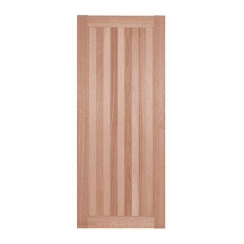 BEST  ประตูไม้สยาแดง  ทึบ ขนาด 90x200 ซม. (ทำสี) GS-46