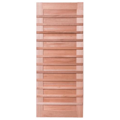 BEST  ประตูไม้สยาแดง บานทึบทำช่อง 100x220ซม. (ทำสี) GS-59