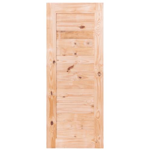 BEST ประตูไม้สน บานทึบทำร่อง  100x220ซม. GS-52S