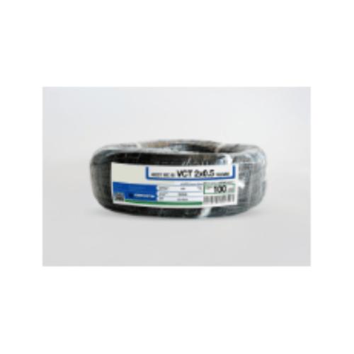 RACER สายไฟ IEC52  2x0.5 Sq.mm. 30M.  VKF สีดำ