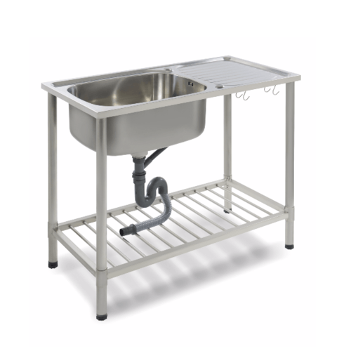 Dyna Home อ่างล้างจานแบบตั้งพื้น 1 หลุม 1 ที่พัก DH-1050-D สเตนเลส