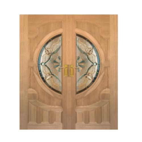 Masterdoors ประตูกระจกสยาแดง  ขนาด 100x200  cm. VANDA-02 ธรรมชาติ
