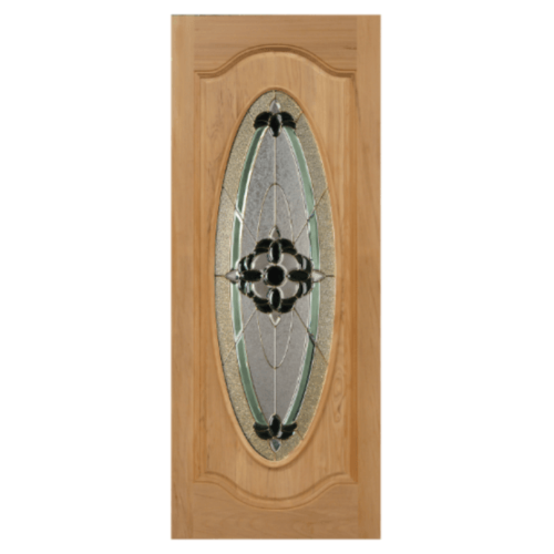 MAZTERDOOR ประตูกระจกไม้นาตาเซีย  ขนาด 90x200 cm. ORCHID-06