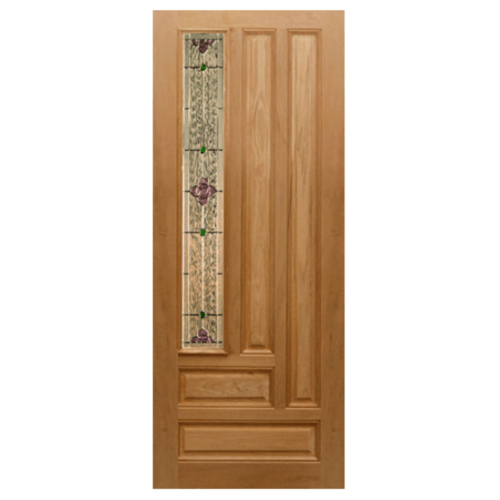 MAZTERDOOR ประตูไม้นาตาเซีย  ขนาด 100x200 cm.  JASMINE-06A