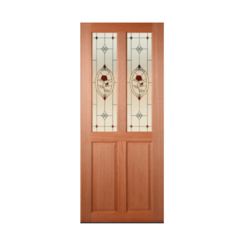 MAZTERDOOR ประตูกระจกไม้สยาแดง ขนาด 90x200 cm.  SS02/3
