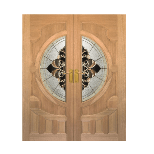 Masterdoors ประตูกระจกสยาแดง ขนาด  160x240 cm. VANDA-07  ธรรมชาติ