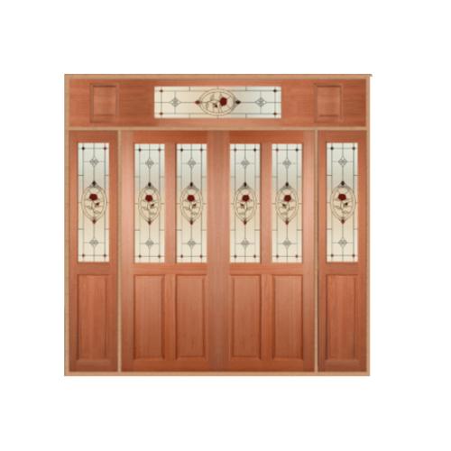 MAZTERDOOR  ประตูไม้สยาแดง ขนาด  240x245 cm. SS-02/3