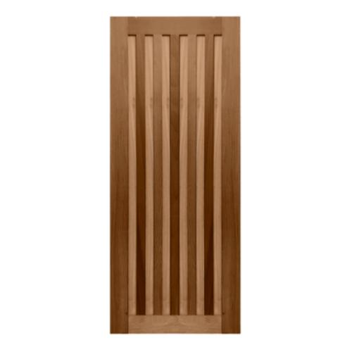 MAZTERDOOR  ประตูไม้สยาแดง บานทึบทำร่อง  80x220ซม. MD-09