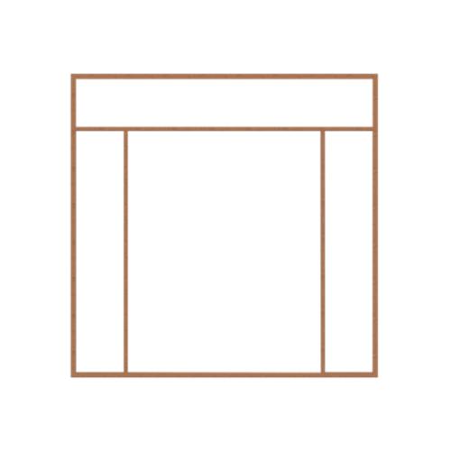 MAZTERDOOR วงกบประตูไม้เนื้อแข็ง  ขนาด240x285cm.  SET4