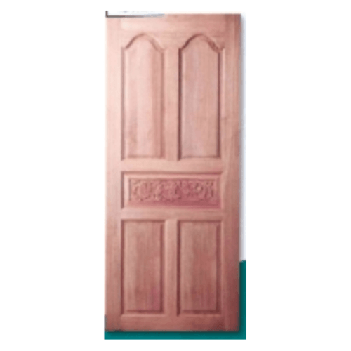 MAZTERDOOR ประตูไม้สยาแดง บานทึบ 5ฟักแกะลาย ขนาด 100x200ซม.  962