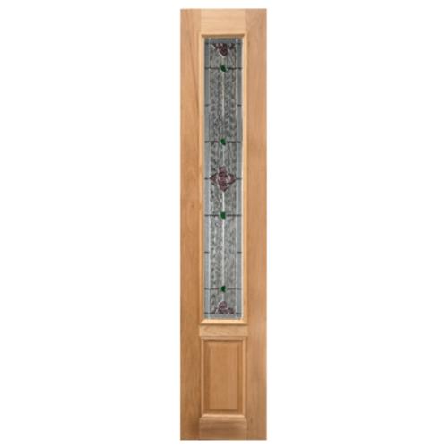 MAZTERDOOR ประตูไม้สยาแดง ลูกฟักพร้อมกระจก  ขนาด 40x160ซม.  JASMINE-06 UPPER-SIDE