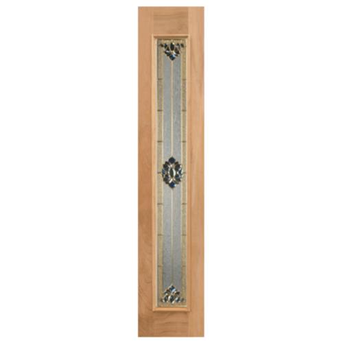 MAZTERDOOR  ประตูไม้สยาแดง กระจกเต็มบาน ขนาด 32x174.5ซม.  Jasmine-05
