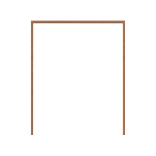 MAZTERDOOR  วงกบประตูไม้สยาแดง ขนาด40x182.50ซม.  SET-1 (มีธรณี)