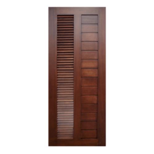 MAZTERDOOR  ประตูไม้สยาแดง เซาะร่องพร้อมเกร็ดข้างตลอดบาน  ขนาด 80x200ซม.