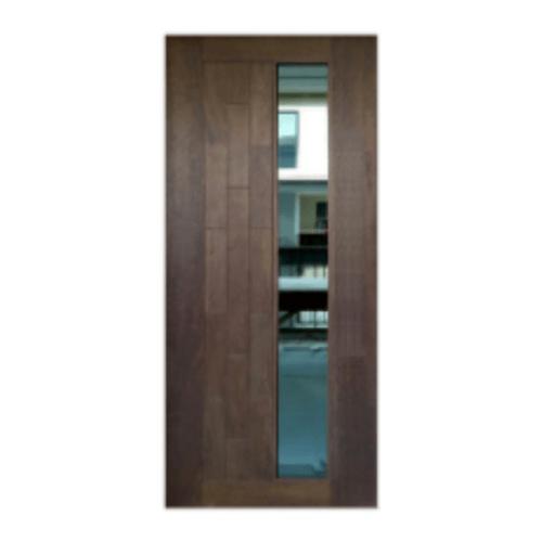 MAZTERDOOR  ประตูไม้สยาแดง ทำช่องพร้อมกระจกวันเวย์ ขนาด 50x200ซม.  BR-03