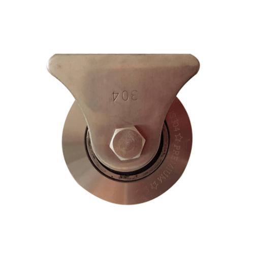 SC ชุดขาล้อเดี่ยวSTL+ล้อร่องเพลาSTL.3 Single Stailess Steel Cover With Single Stailess Wheel Size3 สีโครเมี่ยม