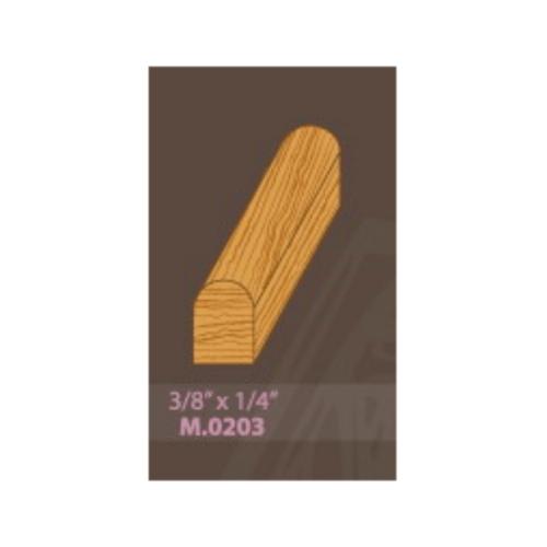 MAZTERDOOR คิ้วตกแต่ง-ไม้เปอร์เซีย3/8x1/4x2.5 m. (M.0203)