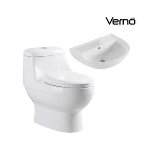 VERNO  สุขภัณฑ์ชิ้นเดียว +อ่างล้างหน้าแบบแขวน  เนเน่ VN-2201+  ฮาน่า VN-A105
