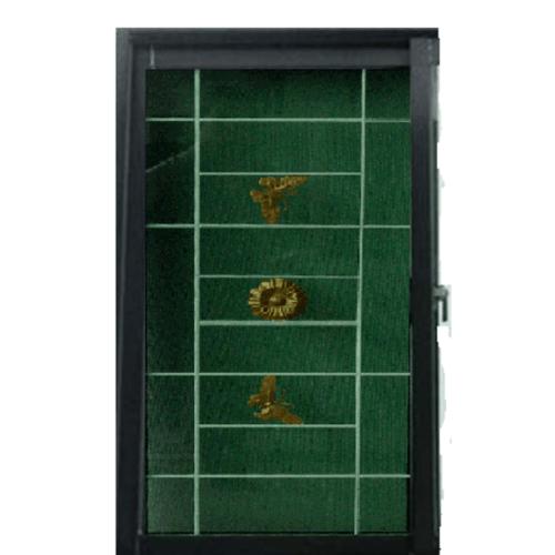 RKT หน้าต่างบานเปิดUPVC เหล็กดัด กระจกเขียวใส ขนาด 60*110 ซม. WGIB สีดำ