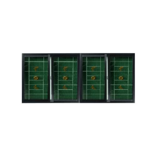 RKT หน้าต่างไวนิลบานเลื่อน พร้อมเหล็กดัด ขนาด 240x110ซม.   FSSF WGIA  สีดำ