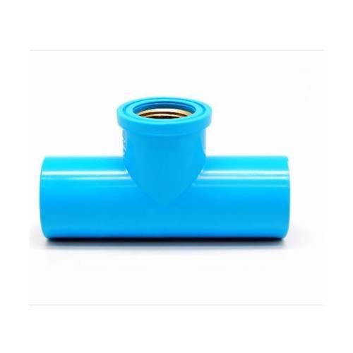 VAVO  สามทางเกลียวในทองเหลือง  ขนาด 3/4นิ้ว (20)  สีฟ้า
