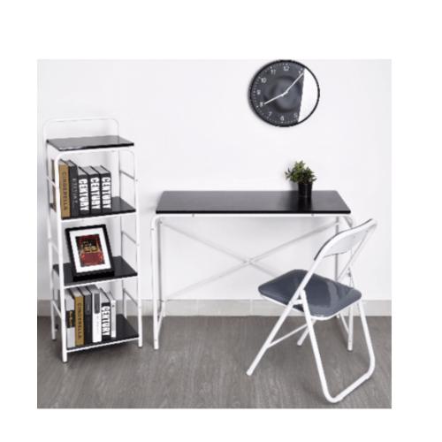 SMITH ชุดโต๊ะทำงาน MIRREN สีเทาประกอบด้วยโต๊ะ 1 ตัว เก้าอี้ 1 ตัว ชั้นวางของ 1 ตัว MIRREN เทา