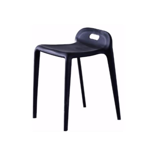 Delicato เก้าอี้โมเดิร์นพลาสติก  KML-026-BK สีดำ