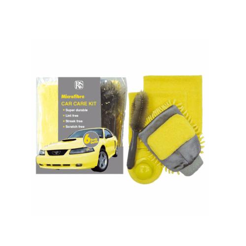 I-CLEAN ผ้าเช็ดรถและฟองน้ำขัดเงา RS08-P022  เหลือง-เทา