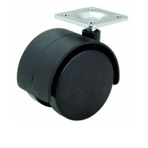 KAMPER ล้อแป้น Black Nylon  TWP-30 สีดำ