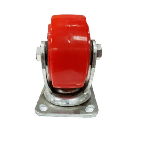 HUMMER ล้อ  PU ขาเป็น  1012-203 สีแดง