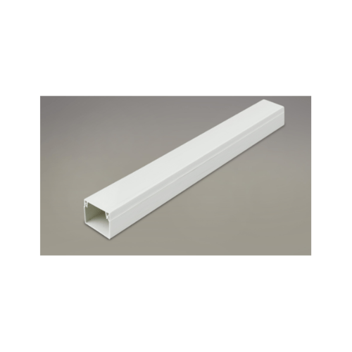 LUXUS รางร้อยสายโทรศัพท์ PVC พร้อมเทปกาว A-ECT-03 สีขาว