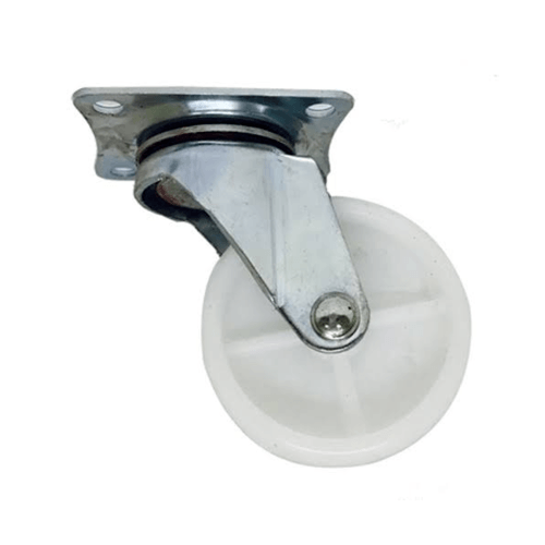 KAMPER ล้อ Nylon แป้นหมุน  2042-50 สีขาว