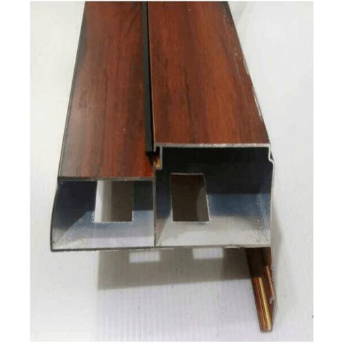 Wellingtan วงกบประตูอลูมิเนียมพร้อมบัว หนา1.2 ขนาด 2.10x0.93x0.103เมตร ALDF12-002 สีไม้แดง