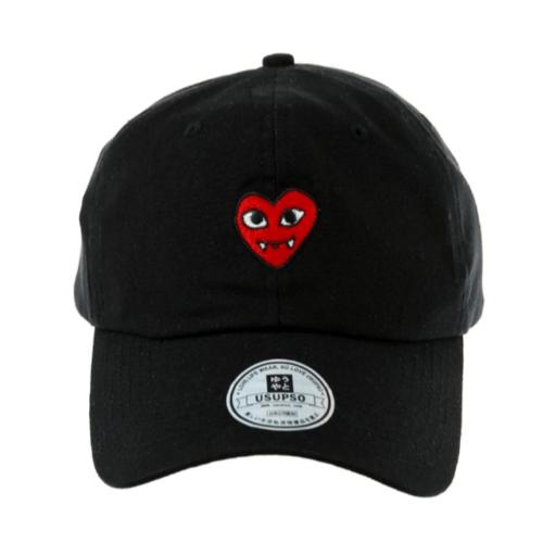 USUPSO หมวกแก๊ปปักตัวอักษร - สีดำ