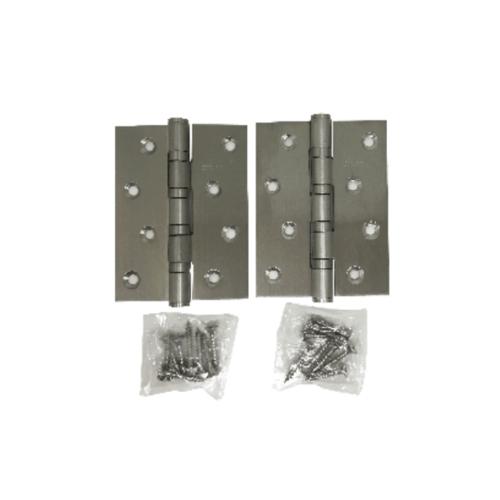 BIGROW บานพับ 5x4x2.5-4BB SN แกนใหญ่ หัวตัด แพ็ค 2 สีโครเมี่ยม