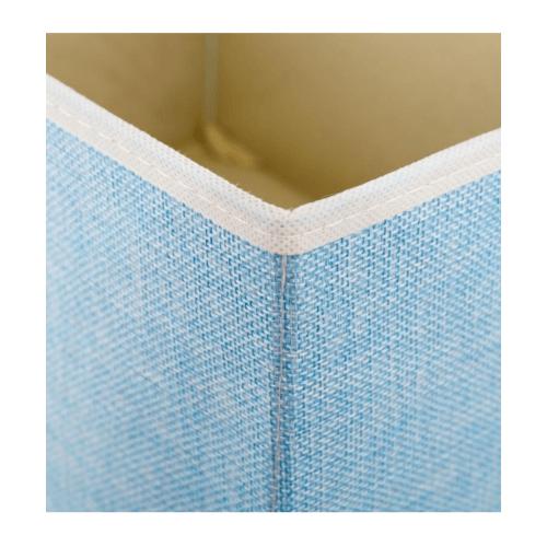 USUPSO กล่องผ้าเก็บของ  - สีฟ้า