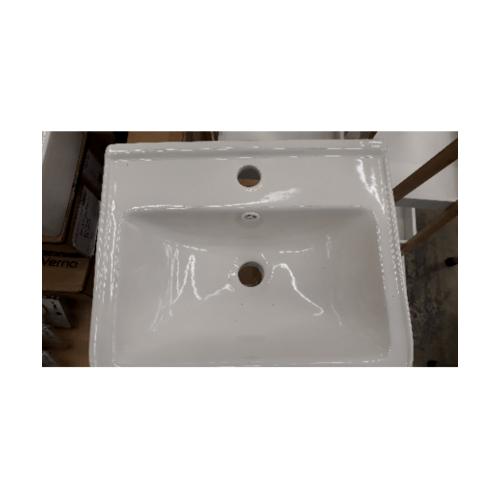 IRIS เฟอร์นิเจอร์อลูมิเนียมพร้อมอ่างล้างหน้า แบบแขวน  ขนาด 35x43x47cm 9214 สีน้ำตาล