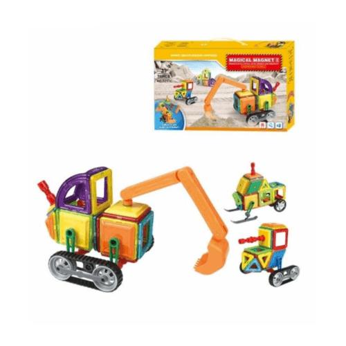 Sanook&Toys ชุดบล็อคตัวต่อแม่เหล็ก 7211c สีเหลือง